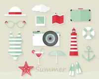 Summer Elements Royalty Free Stock Image