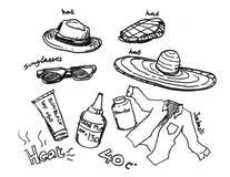 Summer elements illustration Stock Photos
