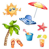 Summer elements isolated. Stock Image