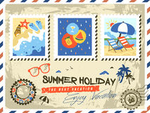 Summer elements stamp Stock Photos