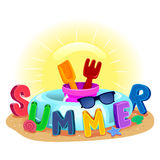 Summer Elements royalty free illustration