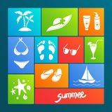 Summer elements for your design Stock Image