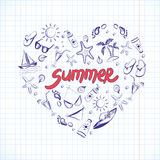 Summer elements for your design Royalty Free Stock Photo