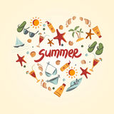 Summer elements for your design Royalty Free Stock Images