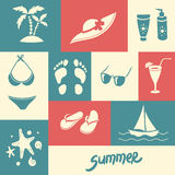 Summer elements for your design Stock Photo