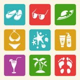 Summer elements for your design Stock Images