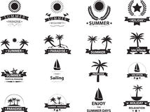 Summer emblem collection Royalty Free Stock Image