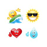 Summer emoticon. Royalty Free Stock Images