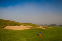 Summer on the empty golf course Royalty Free Stock Photo