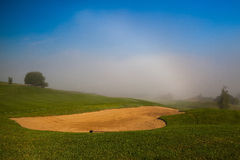 Summer on the empty golf course Stock Photo