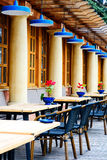 Summer empty terrace cafe. Royalty Free Stock Photos