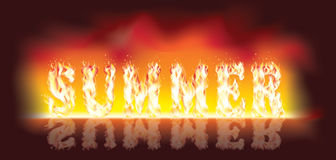 Summer en fire. Vector illustration Stock Photography