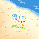 Summer enjoy the jorney on the beach background Royalty Free Stock Images