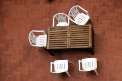 Summer entertainment. Terrace top view. Summer sun bathing Stock Image