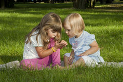 Summer entertainments of children Stock Photography