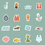 Summer equipment icons Royalty Free Stock Photo