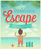 Summer Escape poster. Stock Photography