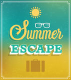 Summer Escape typographic design. Stock Photos