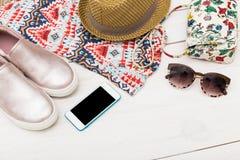 Summer essentials Stock Image