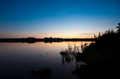 Summer evening. Late Finnish summer evening from lakeside royalty free stock photos