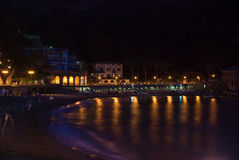 Summer evening. In Levanto, Italy stock photo