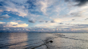 Summer evening at baltic sea Stock Photography