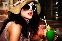 Summer evening in a bar Stock Photo