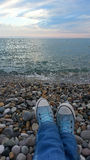 Summer evening on the beach Royalty Free Stock Photo