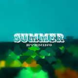 Summer evening card Royalty Free Stock Photography