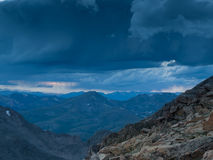 Summer Evening High in the Rockies Stock Images