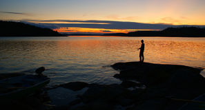Summer evening in Kareliya - Russia Stock Photography