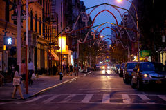 Summer Evening in Little Italy, NYC Royalty Free Stock Images