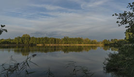 Summer evening near south Bohemia ponds royalty free stock photography