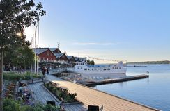 Summer evening in North Harbour Royalty Free Stock Images