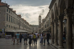 Summer evening in Old town Dubrovnik Royalty Free Stock Photo