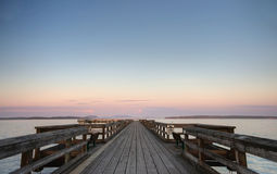 Summer evening on a pier in Sidney, BC Royalty Free Stock Images