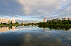 Summer evening in a recreation area, Gomel Stock Images