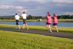 Summer evening running Stock Photography