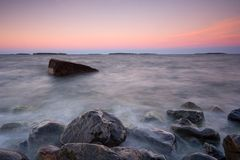 Summer evening seascape Stock Images