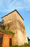 Summer evening Svirzh Castle tower view (Ukraine). Royalty Free Stock Photo