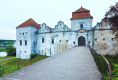 Summer evening Svirzh Castle view(Ukraine). Stock Images