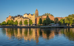 Summer evening in Sweden Royalty Free Stock Images