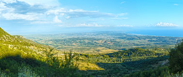 Summer evening top view on coast (Greece, Preveza) Royalty Free Stock Images