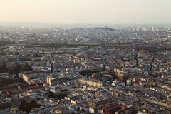 Summer evening view on Paris city from top, France Royalty Free Stock Images