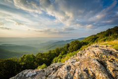 Summer evening view of the Shenandoah Valley from Franklin Cliff Royalty Free Stock Photo