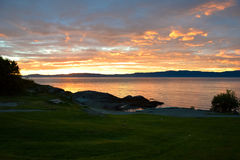 Summer eveninig on the coast of Trondheim. Summer eveninig on the coast Royalty Free Stock Images