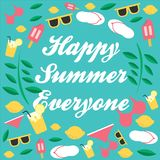 Summer everyone. What time is it? Summer time! Enjoy for summer everyone Royalty Free Stock Images