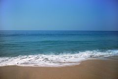 Summer exotic sandy beach Kerala Royalty Free Stock Photography