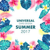 Summer exotic and tropic background design. Royalty Free Stock Photo