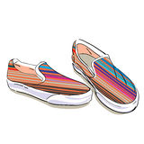 Summer Fabric Shoes Stock Image